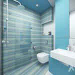 interior-Стъклена подвижна преграда отделя зоната за душ