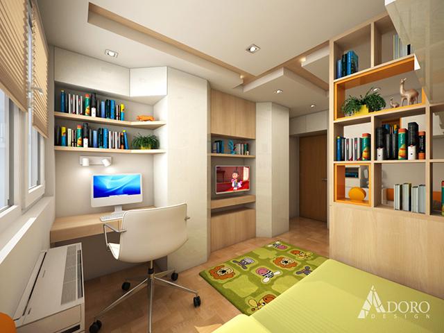 Интериор на детска стая за 2 деца
