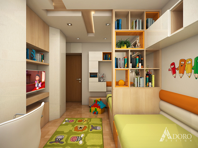 Двете легла са разположени до стената