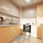 Кухня  пастелно светло бежово