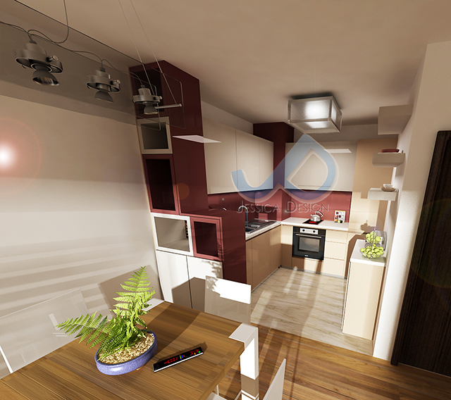 Кухня в пролетно розово - 3-ти вариант
