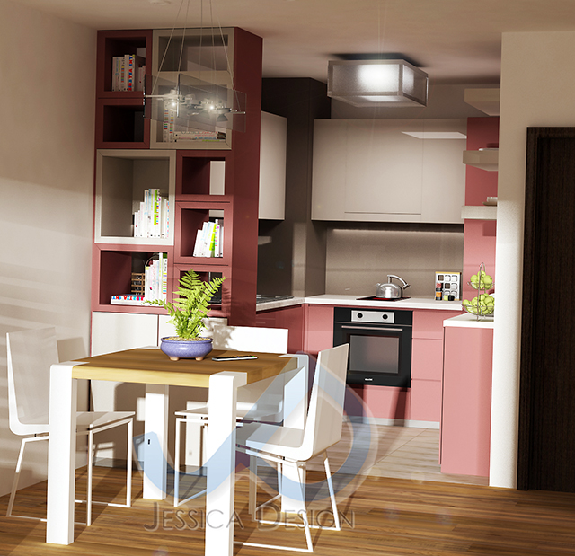 Кухня в пролетно розово - 2-ри вариант