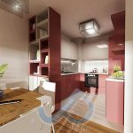 Кухня в пролетно розово - 1-ви вариант