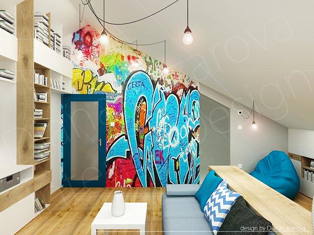 Декор с графити на стената