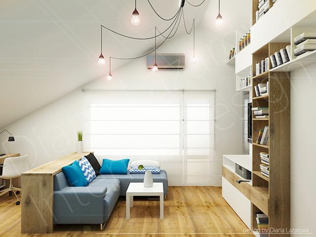 Висока до тавана етажерка за книги