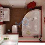 план на баня в червено и бяло