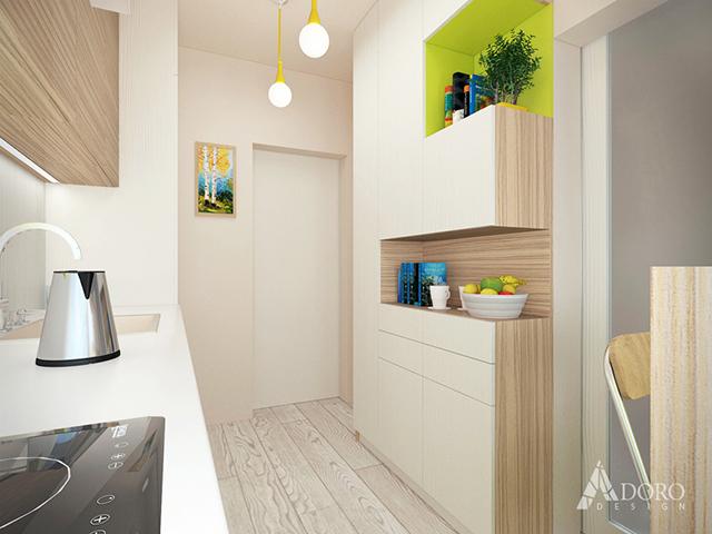 Висок шкаф за кухненски аксесоари и съдове