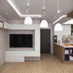 TV-кът и окачен таван