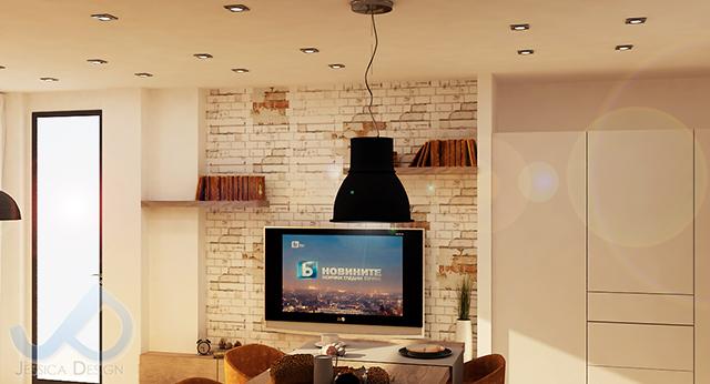 Дневна зона с TV-кът