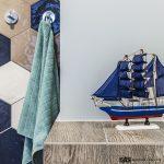 Декорация с морски мотиви в банята