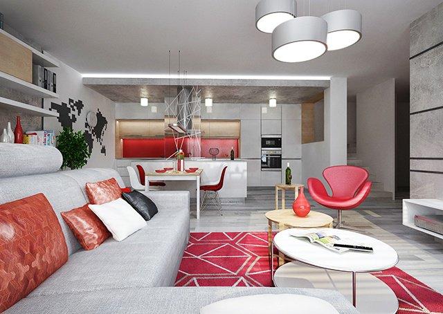 Апартамент с елементи на индустриален дизайн