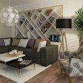 Интериор на апартамент в скандинавски стил - дневна зона