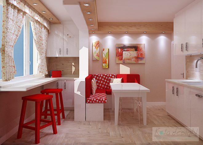 Кокетна кухня с присъединен балкон
