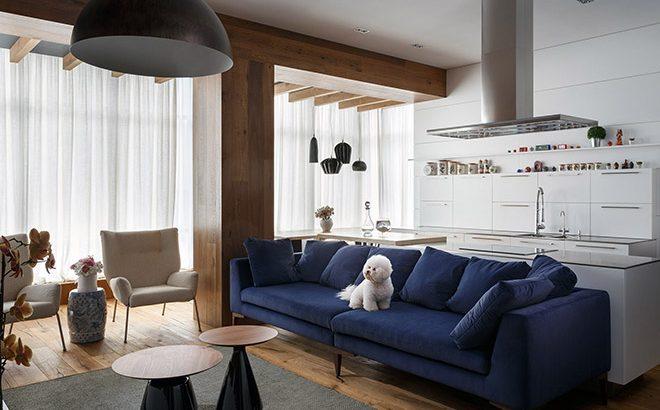 Интериор на апартамент с площ 110 кв.м