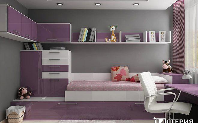 Интериорен проект на стая за млада дама – 14.5 кв.м