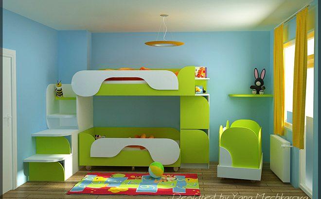 Интериорен проект-реализация на детска стая
