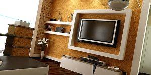 TV- кътове в интериора на дневната