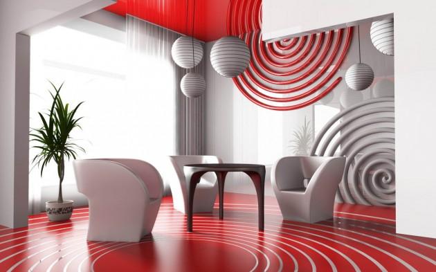 На фокус – шармантната симбиоза червено + бяло в интериора