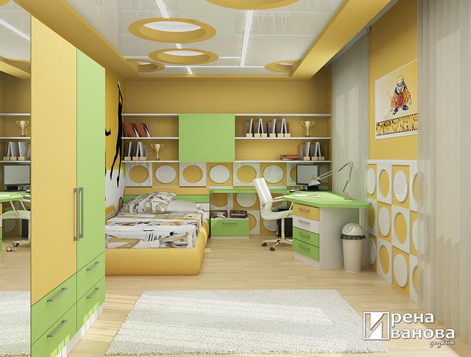Интериорен проект на детска стая за момченце на 10 г.