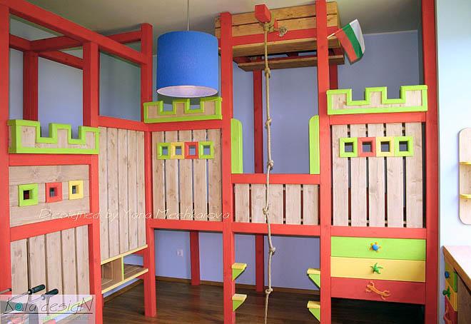Детска стая само за игри и забавления