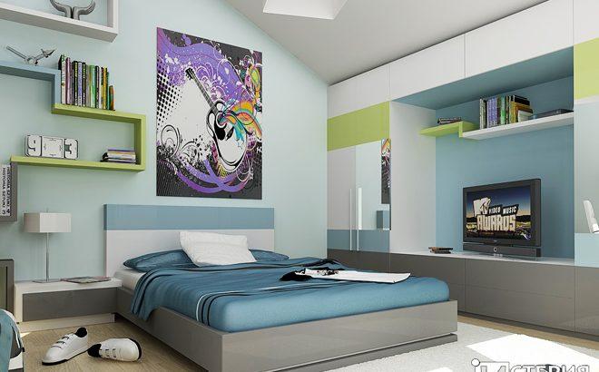 Интериорен проект на стая за тийнейджър
