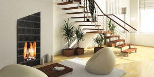 30 идеи за дневни с камини в различни стилове