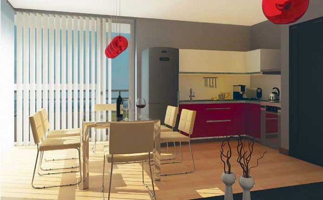 Интериорен проект на апартамент за сезонно ползване– с. Лозенец, общ. Царево