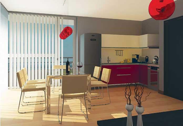Интериорен проект на апартамент за сезонно ползване- с. Лозенец, общ. Царево