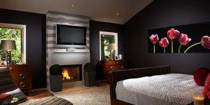 Идеи за спални с камини в различни стилове
