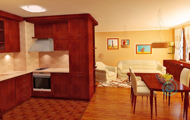 Интериорен проект на апартамент 115 кв.м