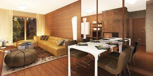 Интериорен проект на двустаен апартамент
