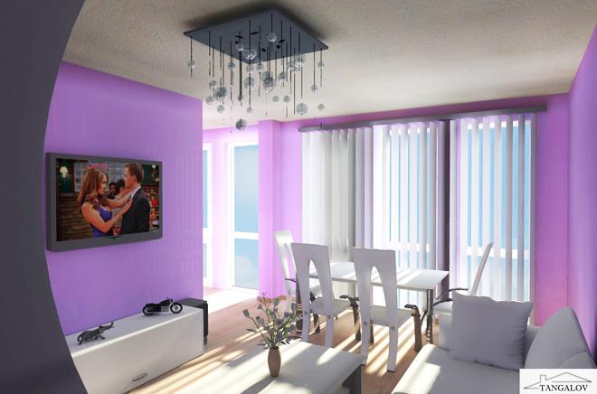 Интериорен проект на апартамент 70 кв.м