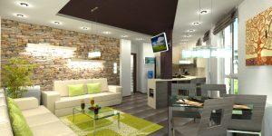 Интериорен дизайн на апартамент 82 кв.м