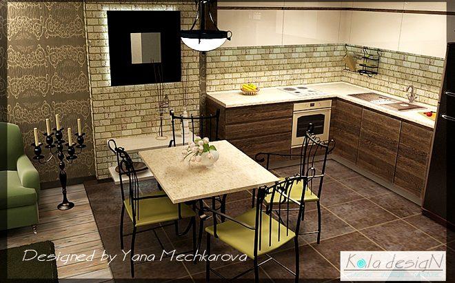 Кухня с елементи от ковано желязо