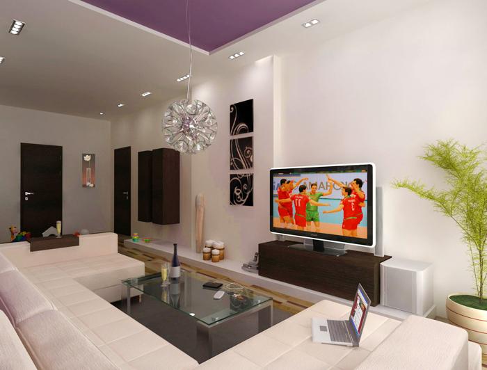 Интериорен проект на апартамент с площ 69.60 кв.м