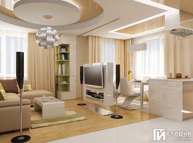 Интериорен проект на апартамент 75 кв.м в гр. София