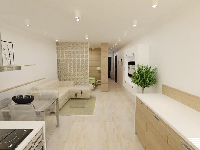 Интериорен дизайн на апартамент с обща площ 51.62 кв.м