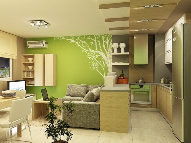 Интериорен проект на апартамент с площ 80 кв.м
