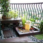 Японска градина на балкона