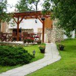 Перголата може да бъде монтирана непосредствено пред сградата или като самостоятелен елемент в градината