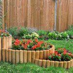Градината - още по-красива с рамки от дървени палисади