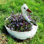Лебедче от стара гума