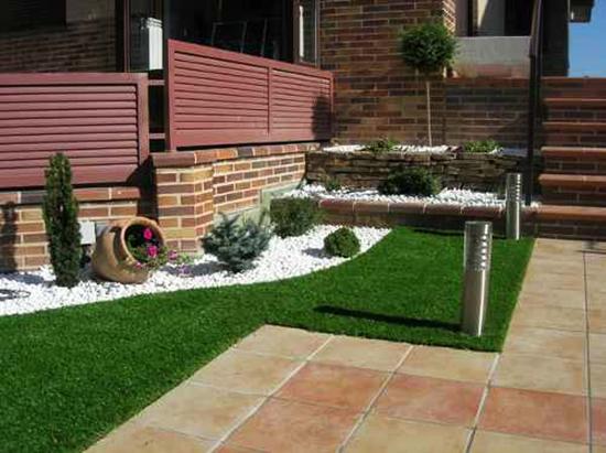 for Jardines pequenos con ladrillos