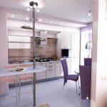 Проект на кухня с окачен таван с лунички