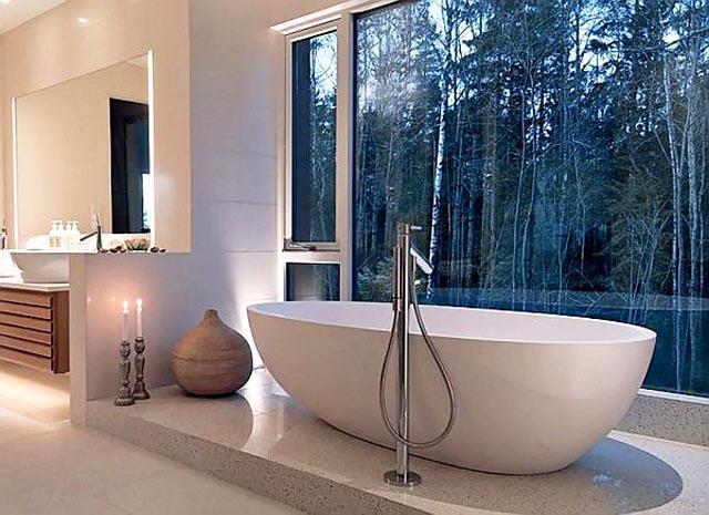 Източен поглед към минимализма в банята