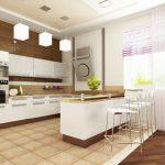 Бар-плот като част от кухненското обзавеждане