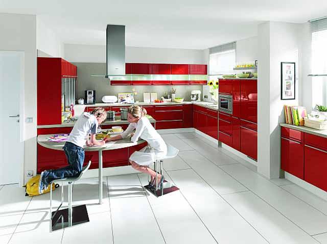 Червени кухни
