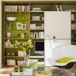 Зеленото успокоява - особено в къта за отдих в дневната!
