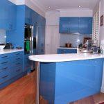 Мебелите са решени в синьо