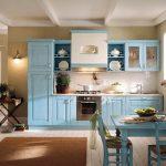 Кънтри кухня в синьо